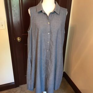 Chambray Cotton Dress